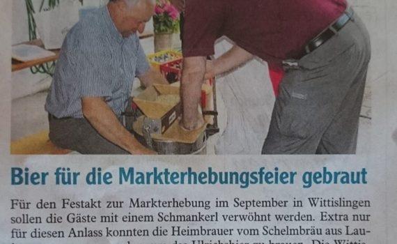Bier für die Markterhebungsfeier gebraut