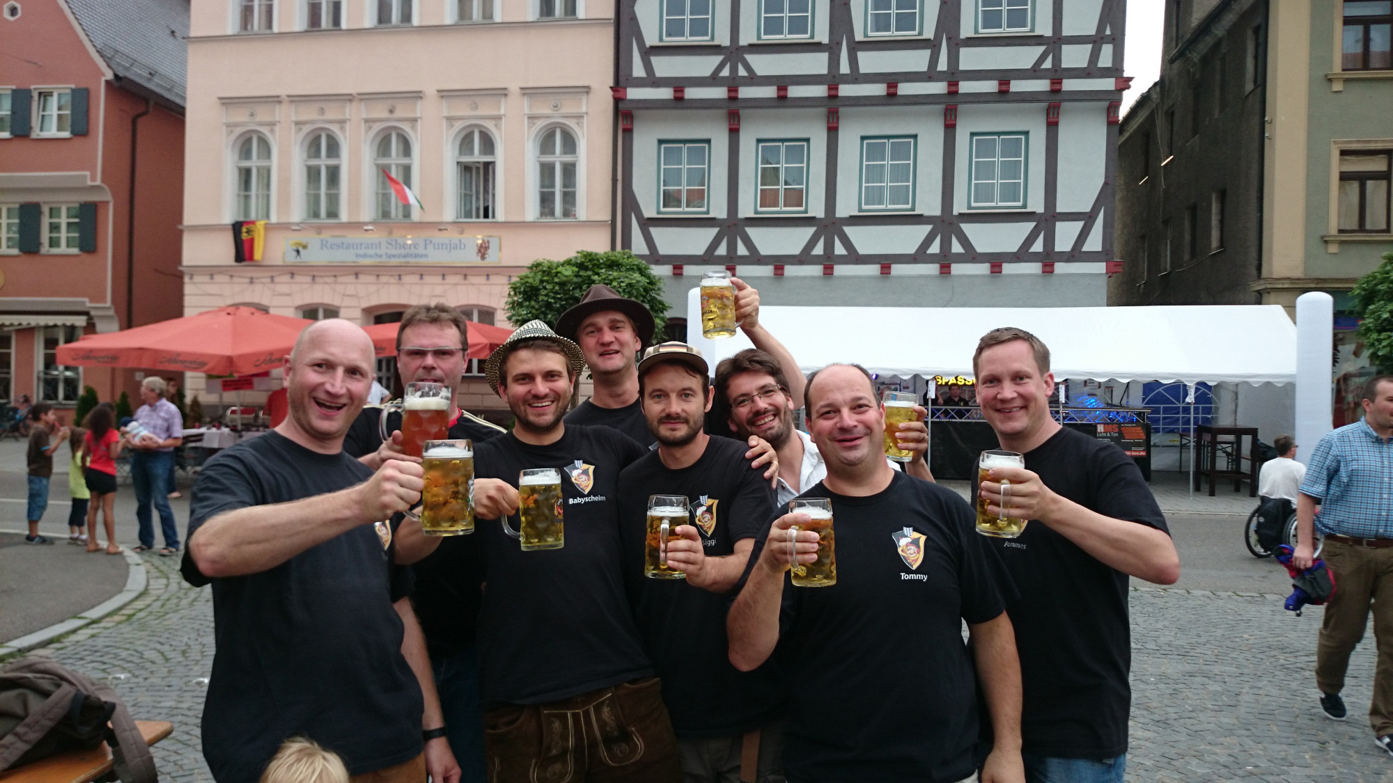 Stadtfest nach dem Schelmbräu Wandertag